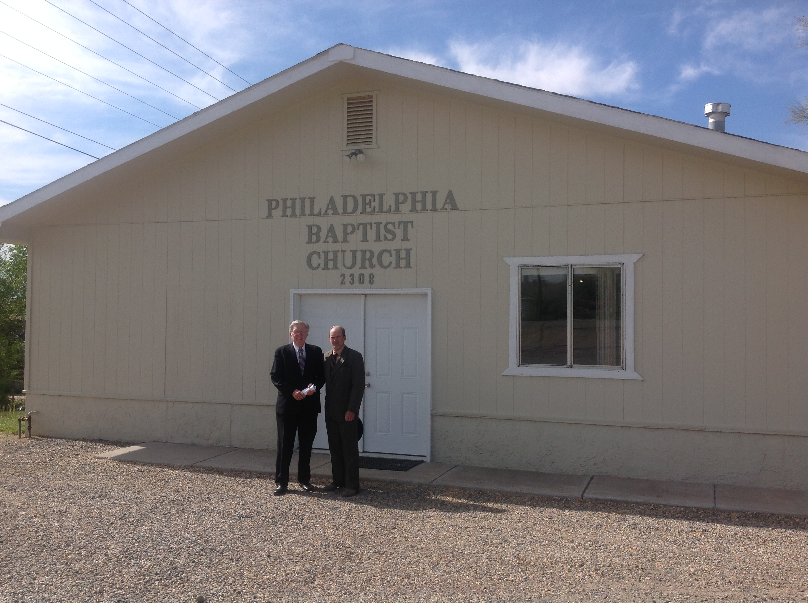 Visiting Philedelphia Baptist Church in Aztec, New Mexico